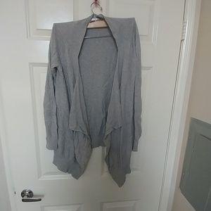 Grey maternity cardigan
